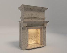 Classical Fireplace Free 3D model