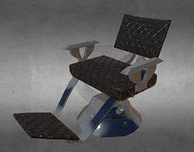 beard 3D asset Vintage Barber Chair