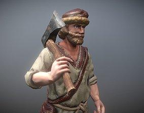 3D asset Peasant Villager Man