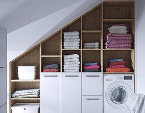 Interior Wardrobe Loft 01 3D