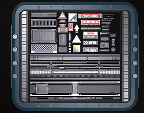 3D asset Sci-fi Trim sheets