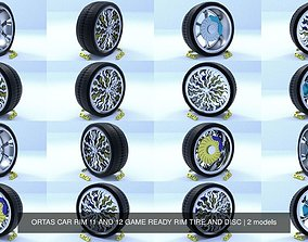 ORTAS CAR RIM 11 AND 12 GAME READY RIM TIRE AND 3D model