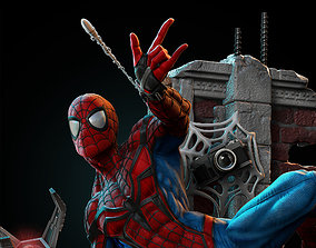 SpiderMan Statue 3D print model