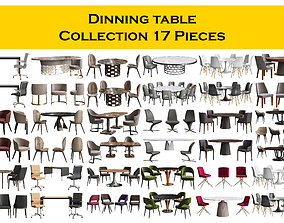 Dinning table Collection 17 Pieces 3D model