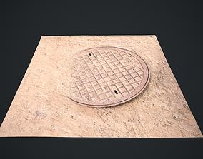3D model realtime Sewer Hatch