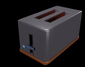 Low poly toaster 3D asset