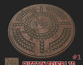 Russian sewer lid - 1 3D model