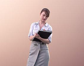 3D asset Svenja 10514 - Business Woman Writing On
