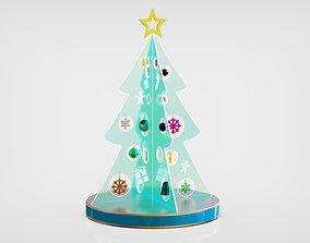 Christmas LED Tree 3D model gift