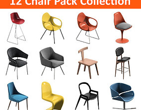 3D model meeting 12 Chair Pack Collection