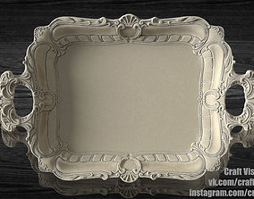 Tray with molding 3D printable model