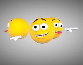 3D asset Emoji Rigged Character