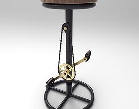 Unique Bar Stool 3D model