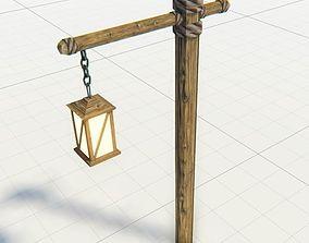 Medieval Lantern Game Ready 3D asset