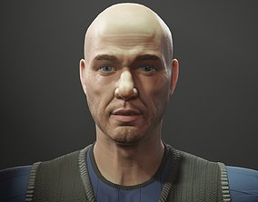 3D asset Bald Man
