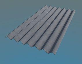 3D model Slate Roof 980x1750mm 7 Waves