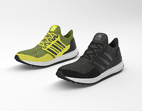 adidas ultra boost running shoes 3D model