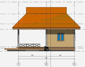 3D Small house in draft revit