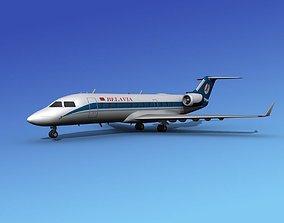 3D model Canadair CRJ200 Belavia