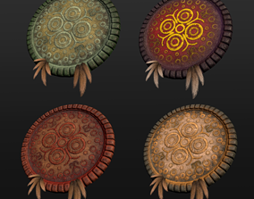 Aztec Weapon Pack 3D model