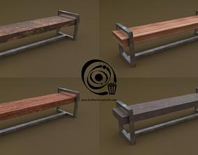 3D asset Bench 20 4in1 - 4 Texture 1 Model