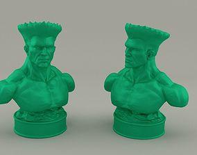 Guile Street Fighter 3D print model