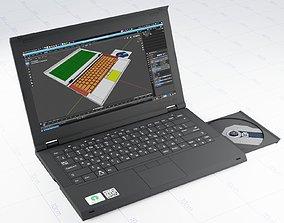 Low-poly laptop 3D asset