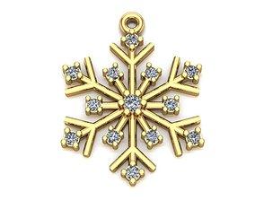 3D printable model Snowflake necklaces