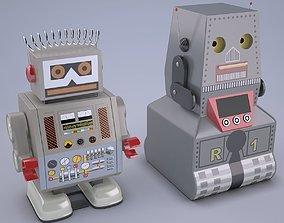 3D model Vintage Style Japan Collectible Electron Robot