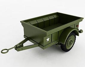 3D model Willys T3 Trailer