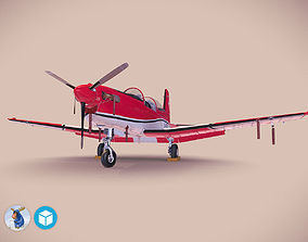 3D model Pilatus PC-7 Mk-I SAFRedWhite