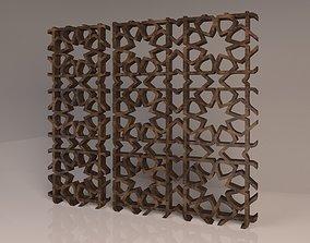 decoration Mashrabieh Islamic Pattern 3D
