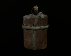 3D asset Army flask 2