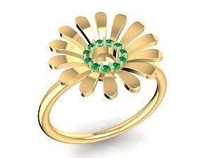 3D print model flower ring 1641
