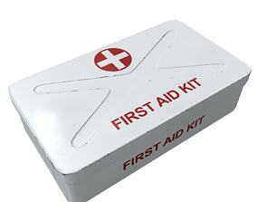 3D model low-poly Medical kit