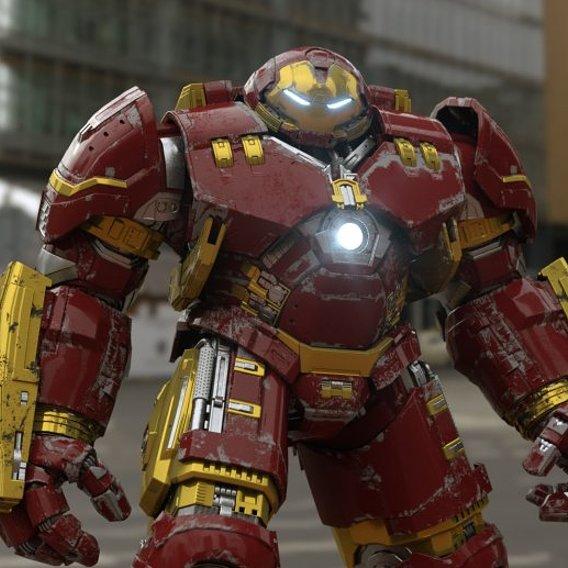 Iron Man Mark 44 Hulk buster Low-poly 3D model