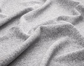 Fine grey felt texture 3D model