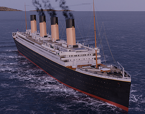 3D RMS Titanic Cinematic Filming Model