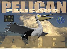 low-poly Pelican 3D model