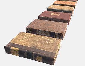 Low Poly PBR Books 3D asset
