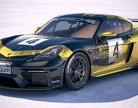 3D model Porsche 718 Cayman GT4 Clubsport 2019