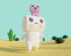 3D model Marshmallow in Desert