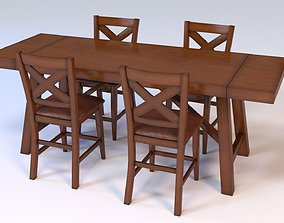 3D Raymour Flanigan Royce 5-pieces Counter-Height Dining
