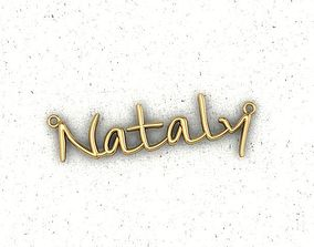 name Nataly for girls 3D printable model