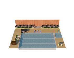 3D printable model swimming pool