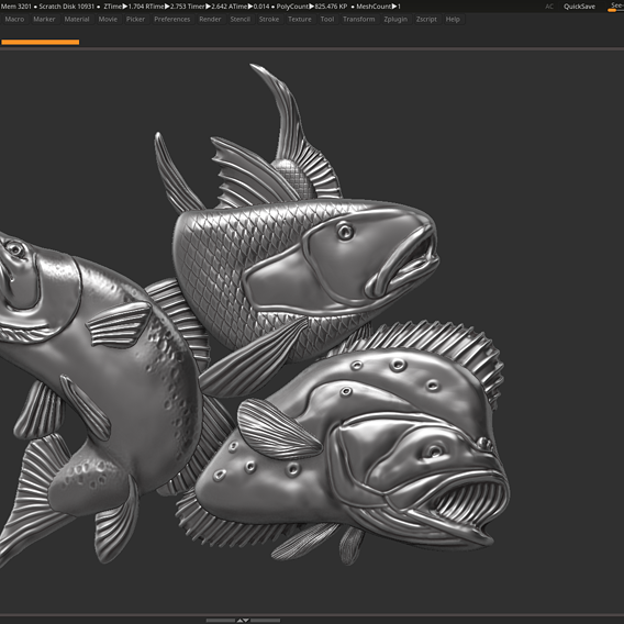 fish pendant 3d print model