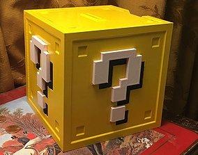 3D printable model Mario Question Block Coin Bank