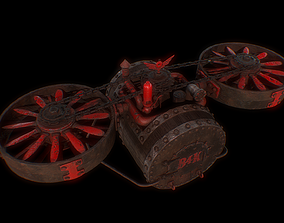 3D asset Old Barrel Drone
