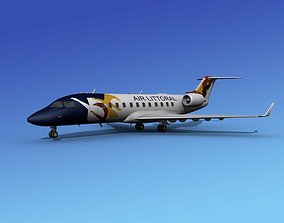 Canadair CRJ100 Air Littoral 3D model