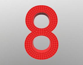 Number 8 3D
